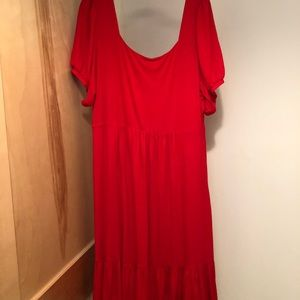 Anthropologie Dresses - NWT Anthropologie A+ red jersey short sleeve dress